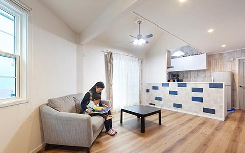 カフェ風ロフト付き賃貸併用住宅