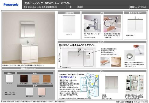 【洗面ドレッシング NEWCLine】収納たっぷりで使いやすい、色柄バリエーションも豊富です。