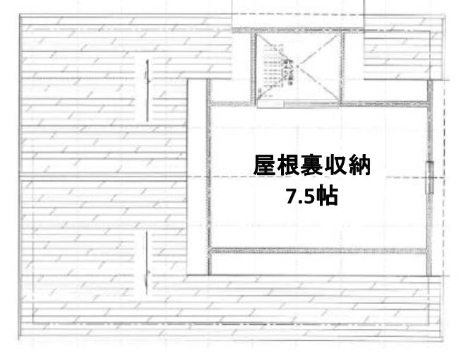 屋根裏の間取り図